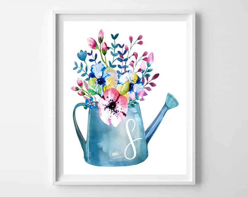spring initial printable
