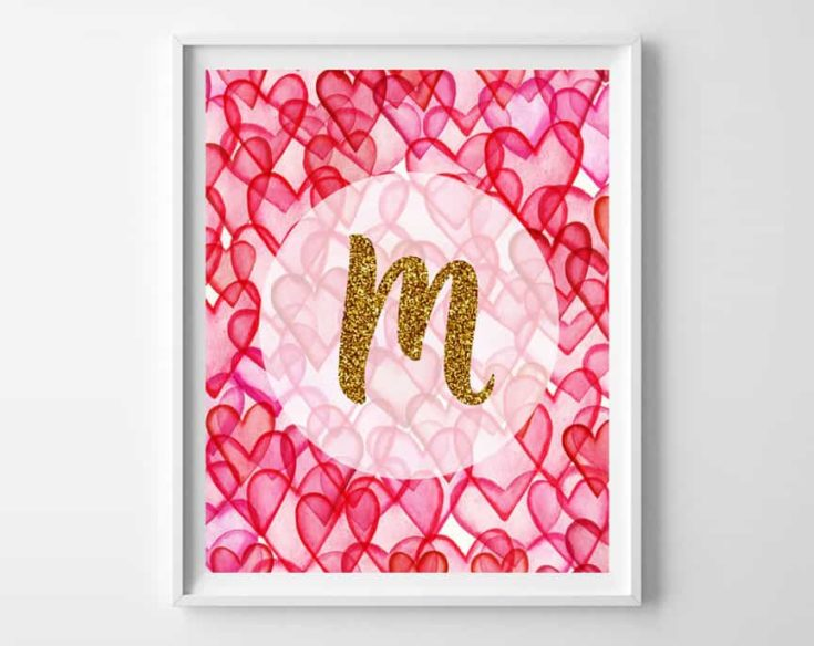 Valentine's Day Art {free alphabet printables}