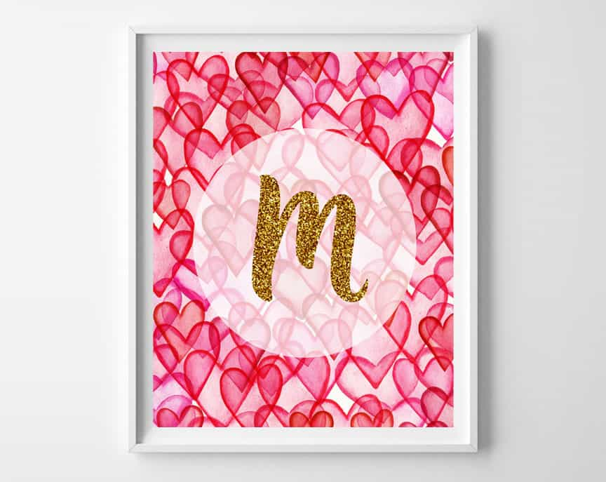 valentines day name art