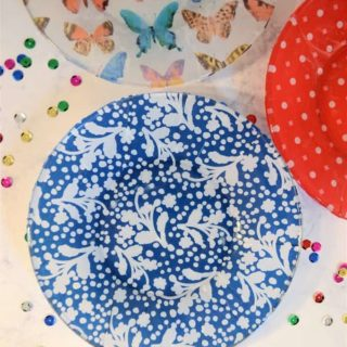 Decoupage Plates {How to Mod Podge Plates with Tissue Paper}