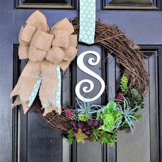 Twig Wreath {Make a Spring Succulent Twig Wreath}
