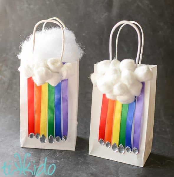 rainbow gift bags