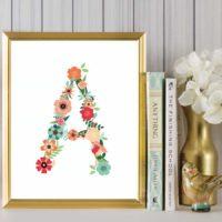 Floral Art {Free Floral Alphabet Printables}