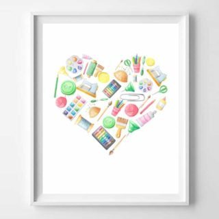 art supplies printable