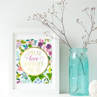 spread love quote free printable art
