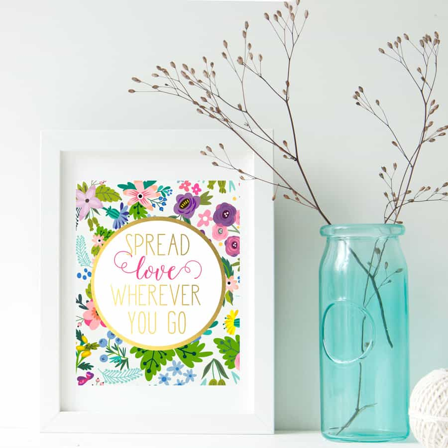 Spread Love Quote Printable Art