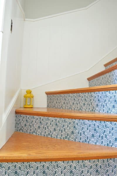 mod podge stairs