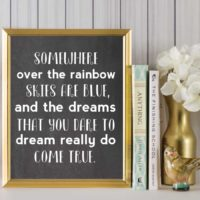 Somewhere Over the Rainbow {Chalkboard}