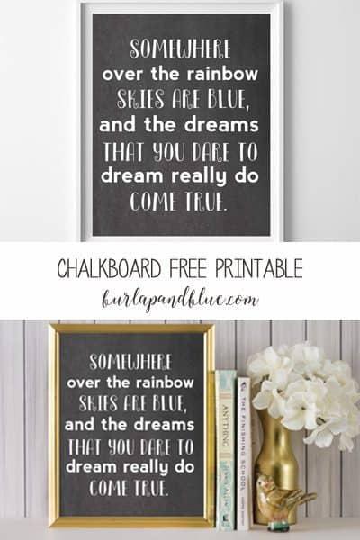 chalkboard free printable