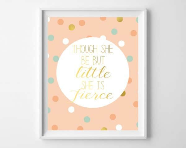 girls nursery printables