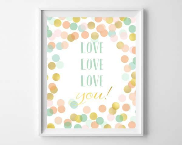 mint gold nursery art 2
