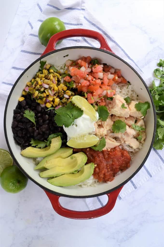 easy chicken burrito bowls 5