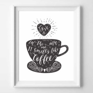 free coffee printable art