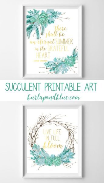succulent printable art