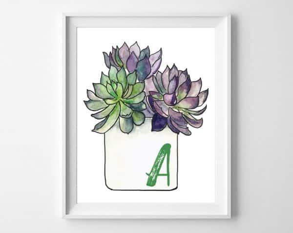succulent art 1