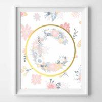 Floral Initial Printables