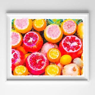 watercolor citrus printable