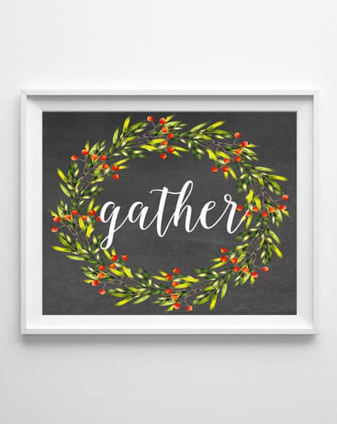 gather free printable