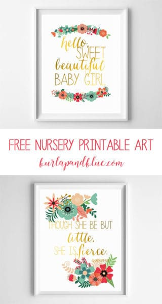 free nursery printable art