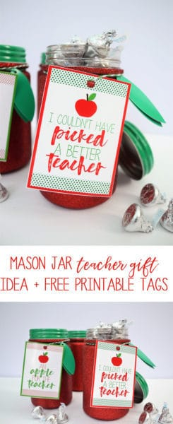 Teacher Gift Idea and Printable by Burlap and Blue