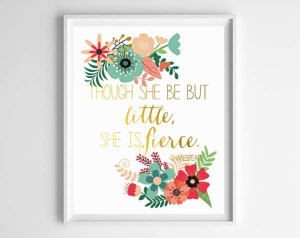 nursery printables girls 2