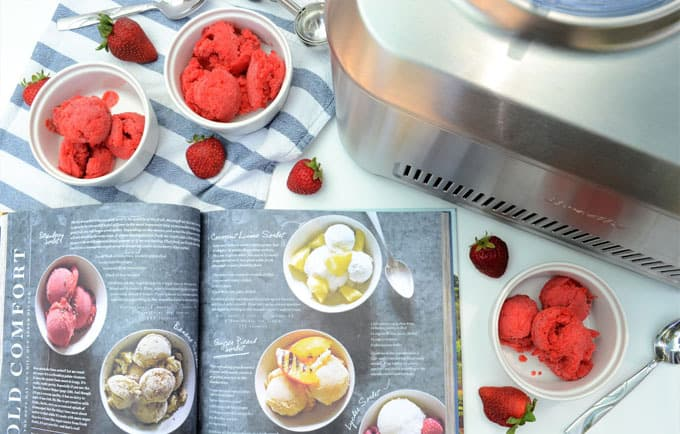 how to make strawberry sorbet 1