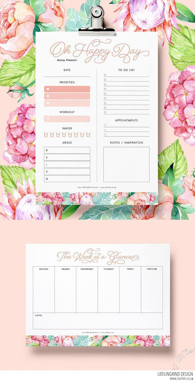 daily planner printable  free happy planner printables