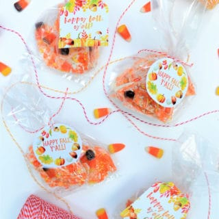 Easy Candy Corn Bark + Free Printable Tags