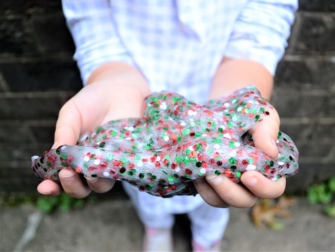 Glitter Slimes {An Easy Slime Recipe for Kids}