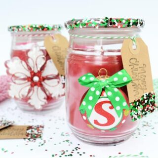 Christmas Gift Idea {Decorate a Store Bought Candle!}