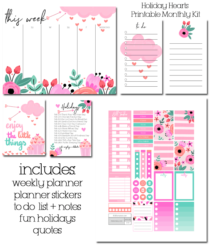 Daily Planner Printable {Free Happy Planner Printables}