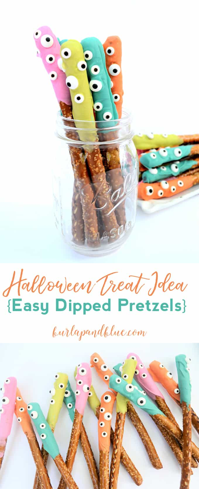 no bake halloween treat | dipped pretzels | fall recipe | halloween recipe