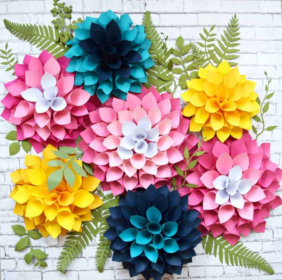 paper dahlia tutorial flower shop