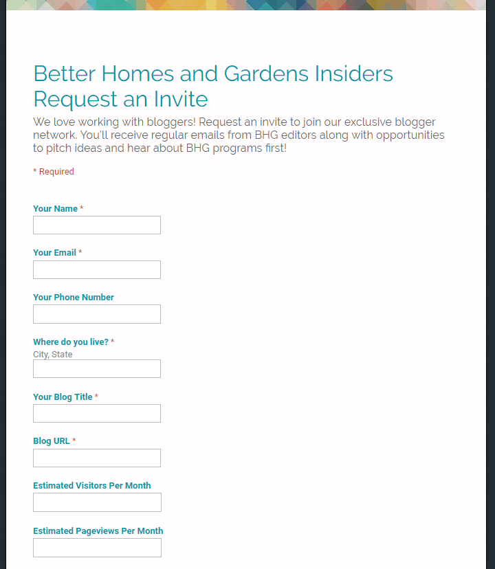 bhg insider application