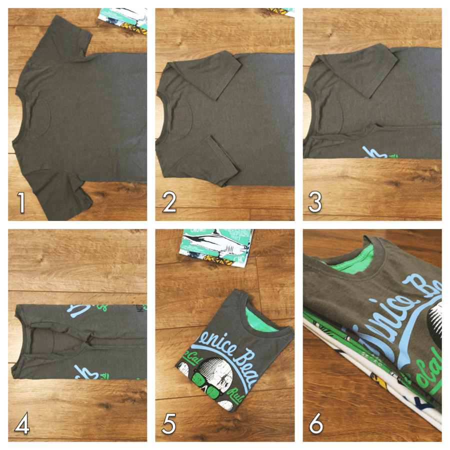 how to fold tshirts