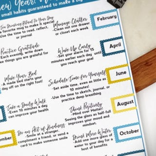 New Year New You Printable Infographic + Hot Tea Month