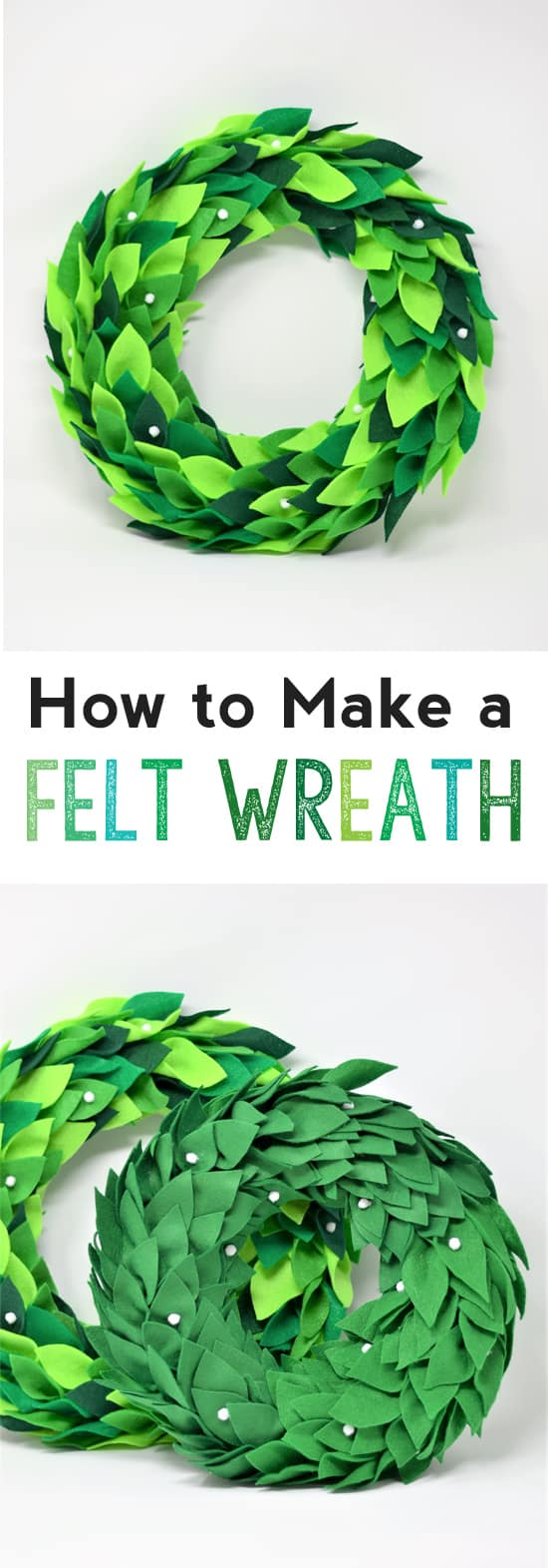 felt wreath diy | how to make a felt wreath | wreath tutorial | magnolia wreath | felt crafts | diy | home decor | crafts | how to make a wreath