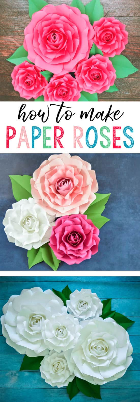 Giant paper flowers how to make paper garden roses with step by step giant paper flowers 2 mightylinksfo