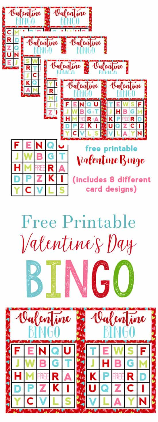 Valentine\'s Activities for Preschoolers {Alphabet Bingo Free Printable}