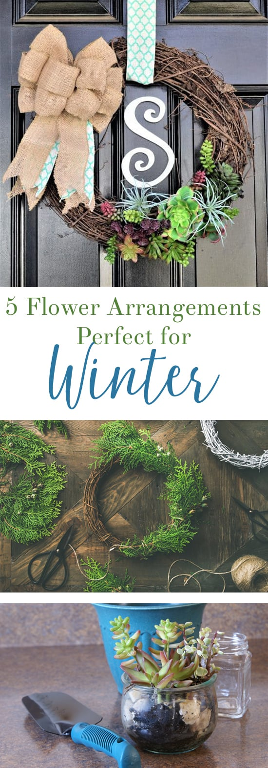 flower arrangements winter