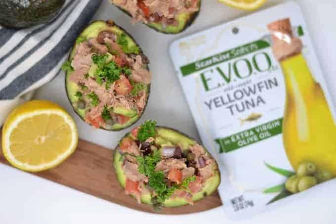 tuna salad in avocado 1
