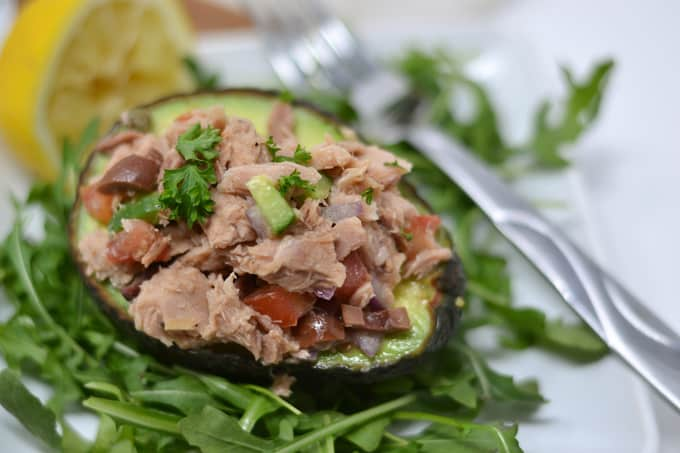 tuna salad in avocado 4