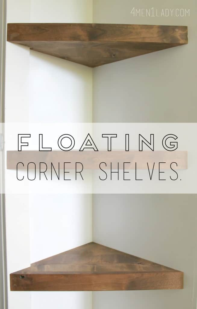 corner shelves diy
