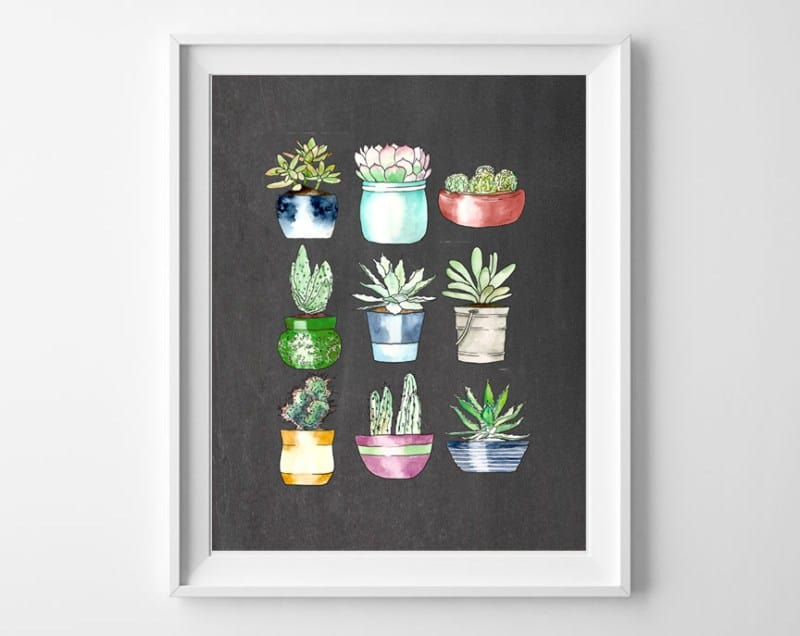 succulents free printable