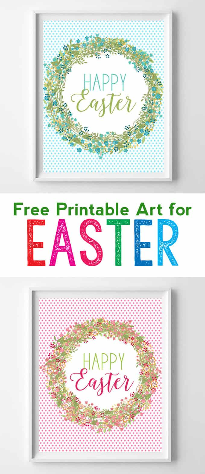 Free printable art for Easter. These free Easter printables are perfect for your spring home decor!