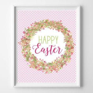 Easter Free Printable Art {Easy Spring Decor Idea}