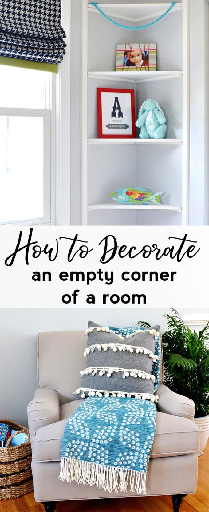 Easy ways to decorate an empty corner of a room! Sharing affordable home decor tips and tricks.