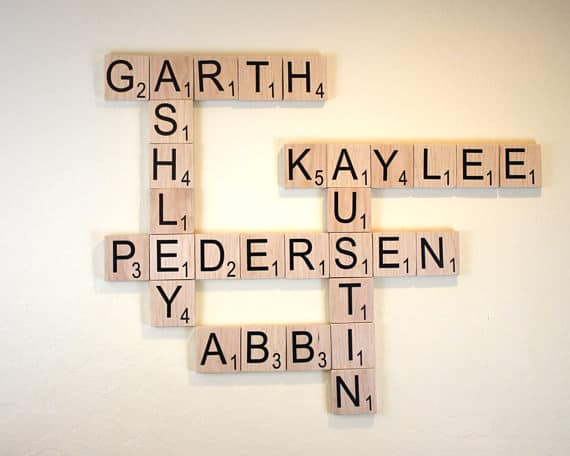 scrabble name art