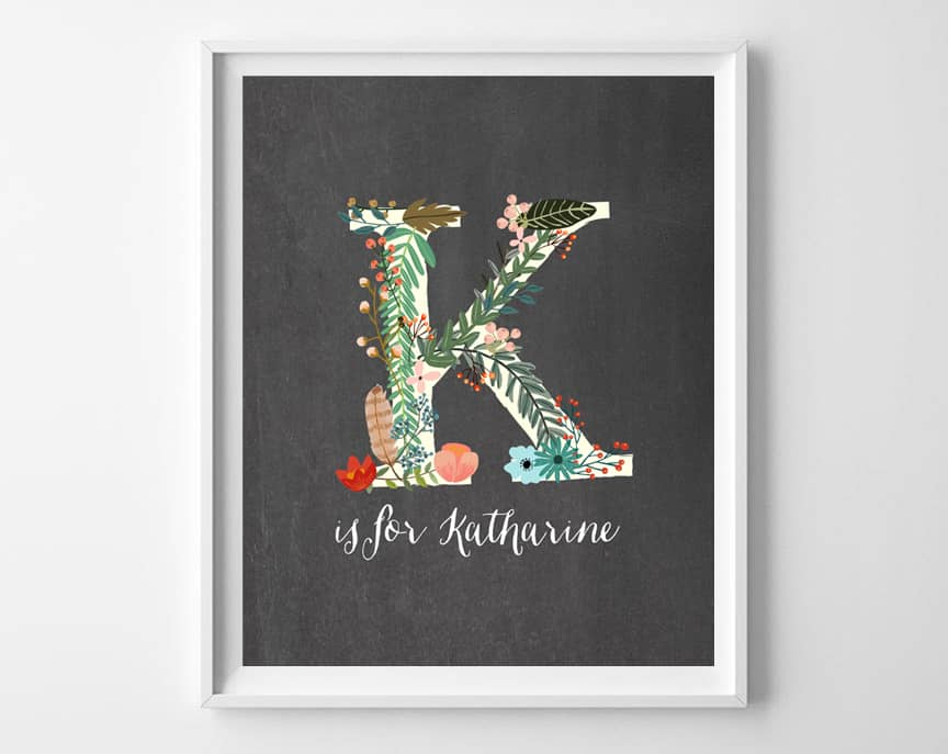 my name art printable