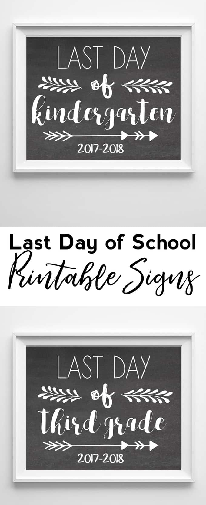 Free Printable First Day Of School Signs For All Grades ...